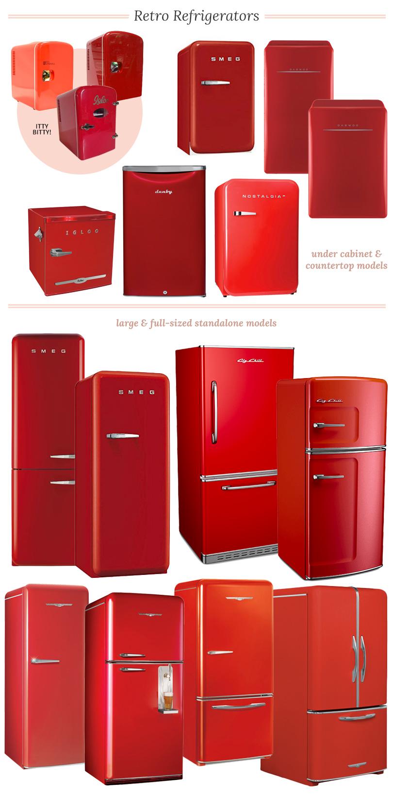 Retro Refrigerators and Mini Fridges