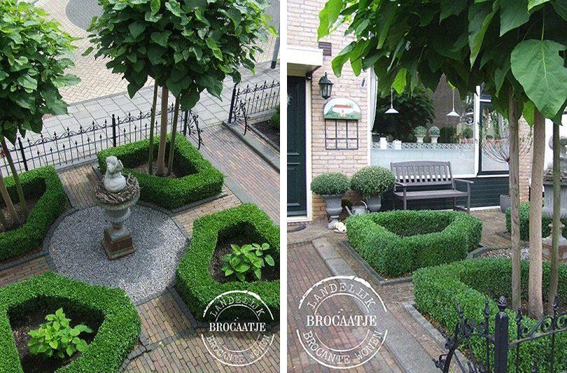 Formal Front Garden Parterre — Brocaatje Landelijk Brocante Wonen