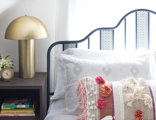 Guest Room Bed and Night Stand | Making it Lovely