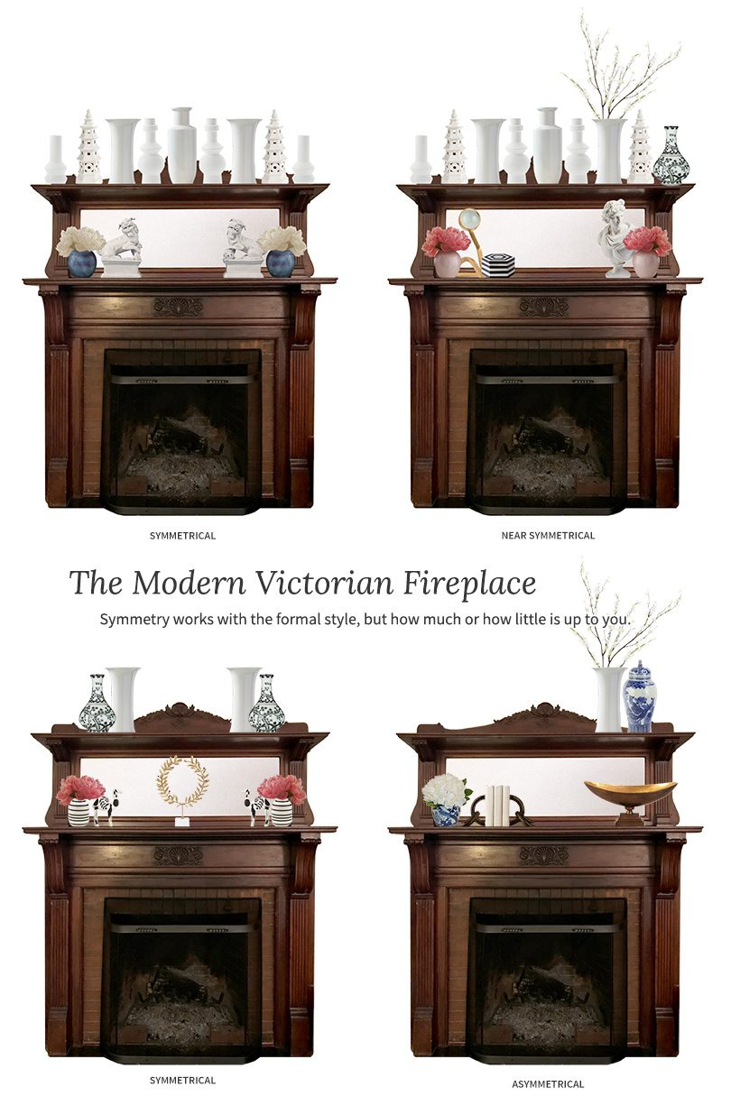 Decorating the Modern Victorian Fireplace | Making it Lovely
