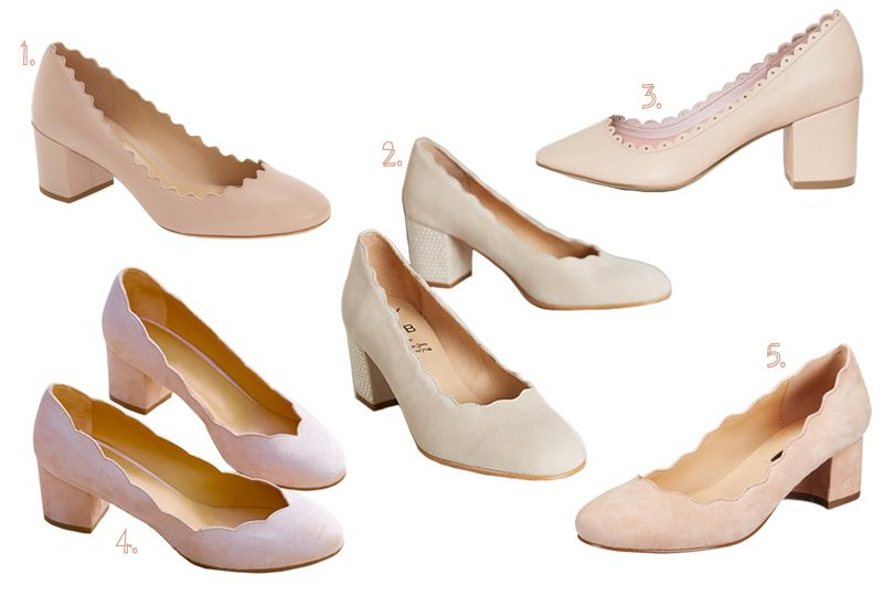 Chloé Scalloped Shoes (and Knockoffs)