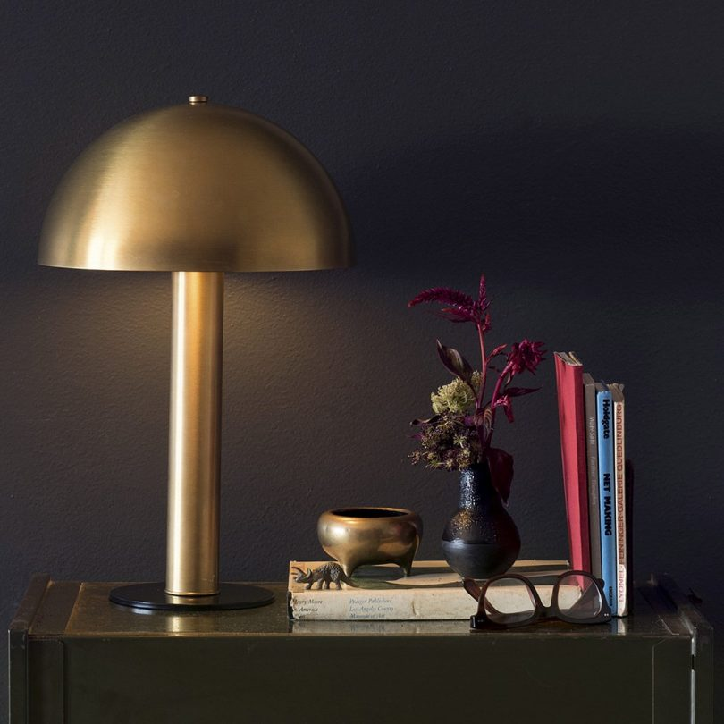 Schoolhouse Electric Sidnie Natural Brass Lamp