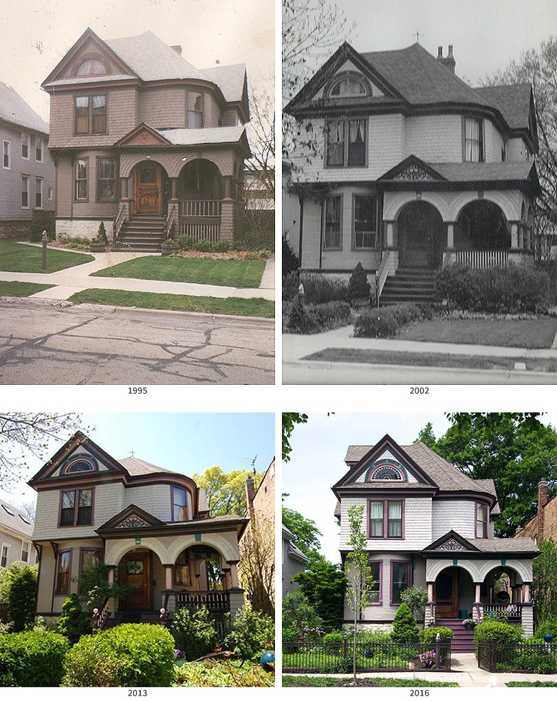 Victorian House Exterior Changes: 1995 - 2016