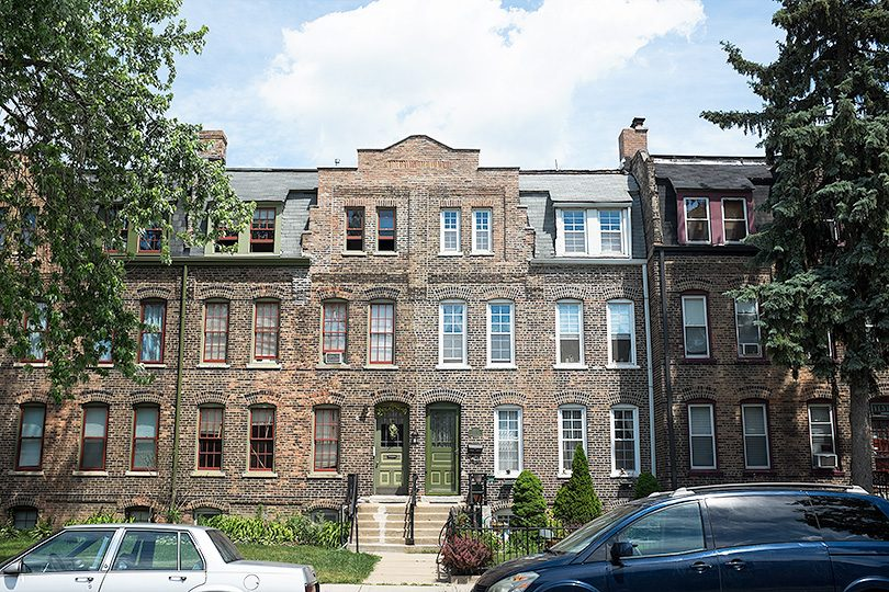 Common Brick Buildings in Pullman Chicago