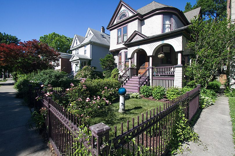 Front Garden with Victorian Wrought Iron Fence