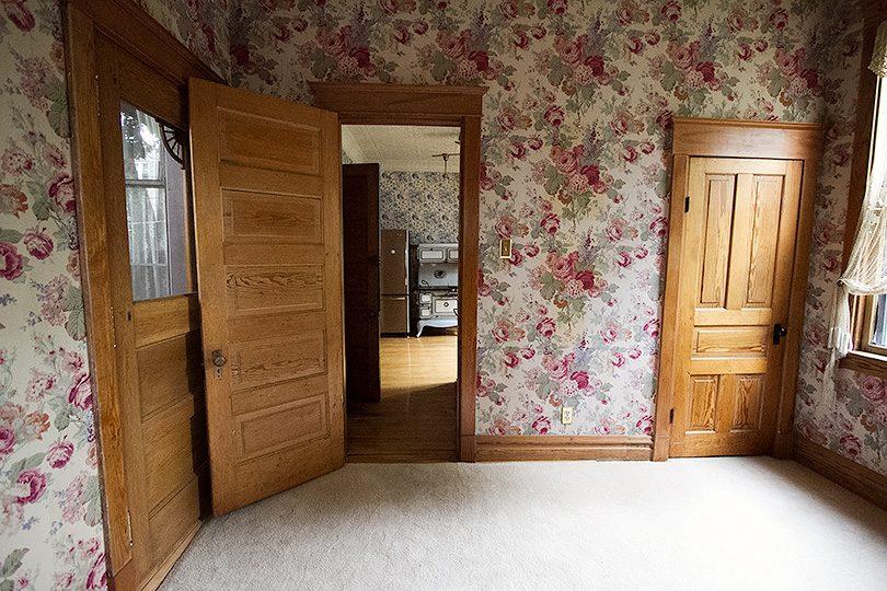 Wallpapered Back Room (Former Sleeping Porch)