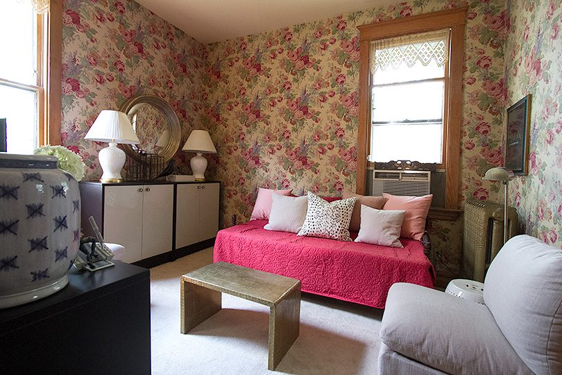 The Snug, a Wallpapered, Cozy TV Room | Making it Lovely