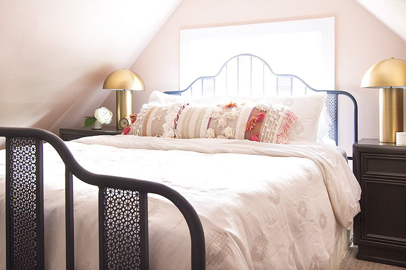 Guest Room Painted Pink