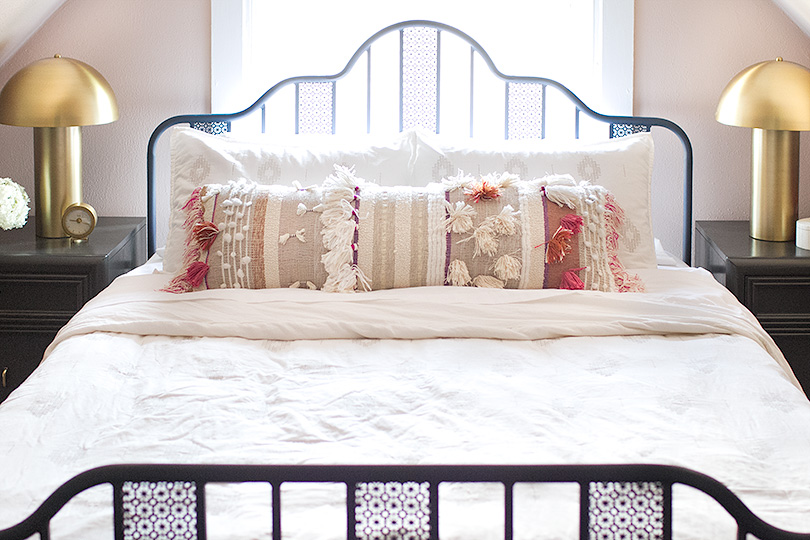 Awesome Boho Fringe and Tassel Bed Pillow