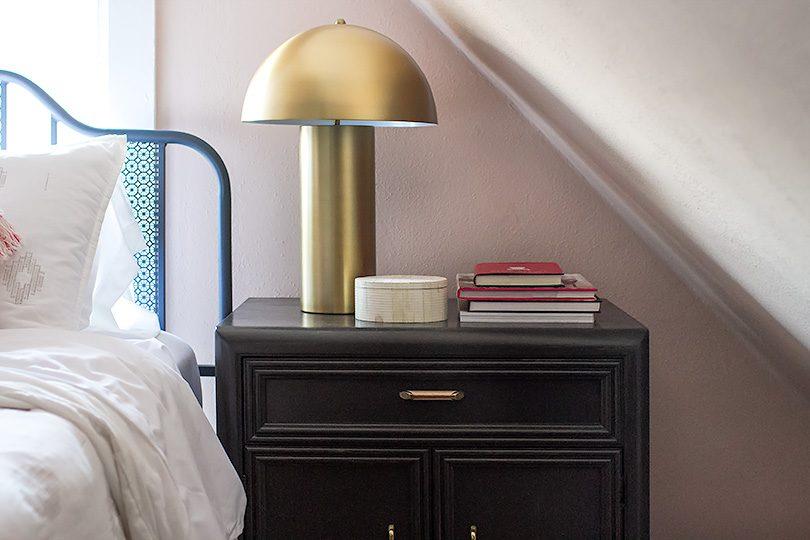 Vintage Nightstand, Painted Black