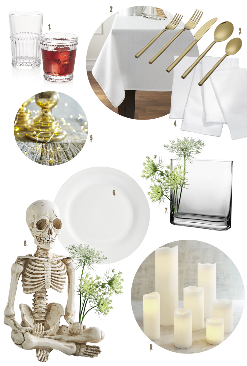 Dîner en Blanc Gothic White Tabletop Sources | Making it Lovely