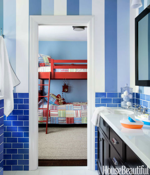 Red Kids' Bunkbeds, Bedroom by Matthew Leverone