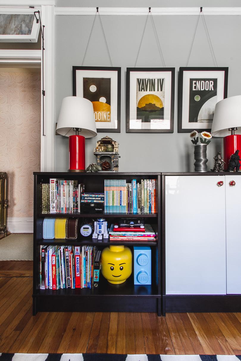 Bookshelves, Star Wars Framed Prints   Making it Lovely