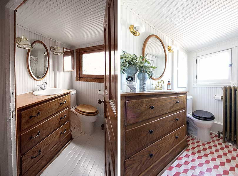 Bathroom Before and After | Making it Lovely