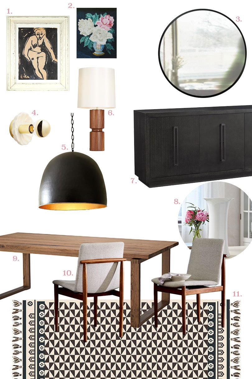 Dining Room Design with Rug for Annie Selke by Nicole Balch   Making it Lovely