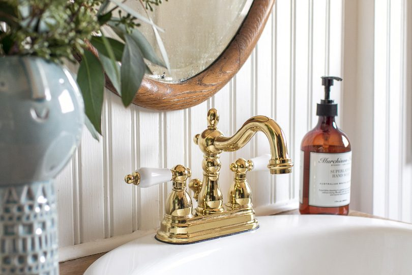 Brass Centerset Bathroom Faucet