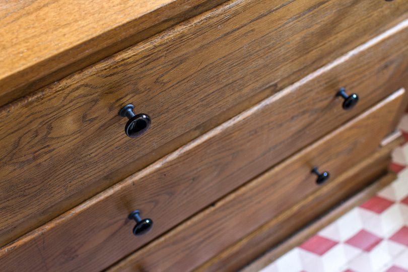 Emtek Black Porcelain Cabinet Knobs