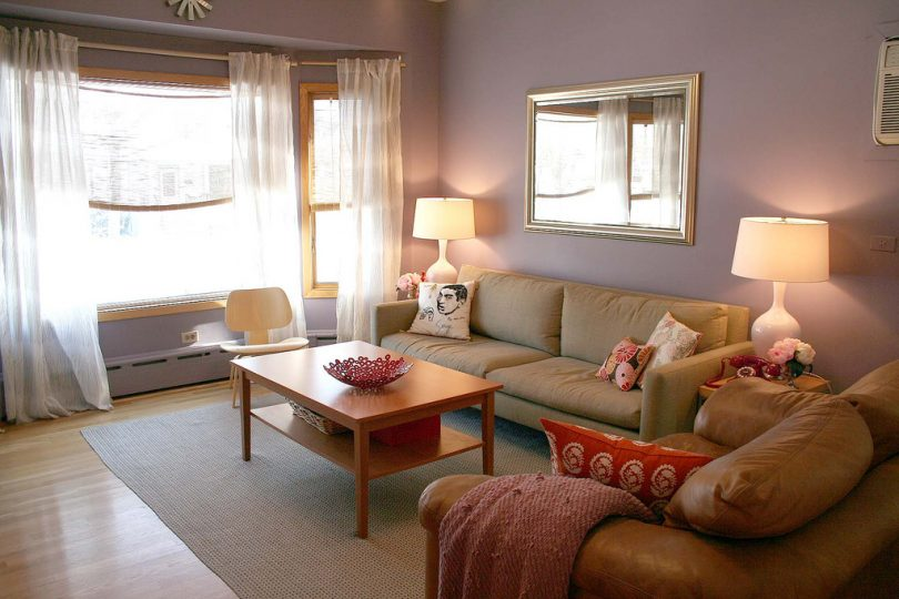 Apartment with Purple Living Room