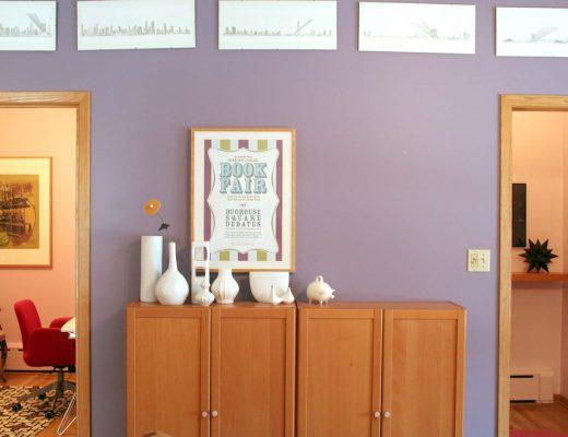 Apartment Hallway with Purple Walls