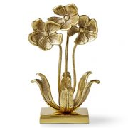 AERIN Brass Violets Floral Sculpture, Williams-Sonoma