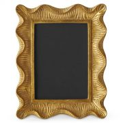 Aerin Scallop Gold Picture Frame, Williams-Sonoma