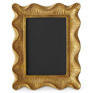 Aerin Scallop Gold Picture Frame, Williams-Sonoma