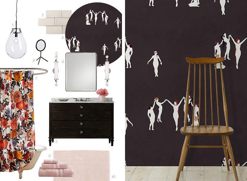 Bathroom Design with Maison C Coven Wallpaper