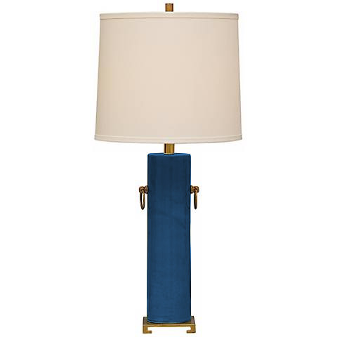 Teal Blue Beverly Lamp