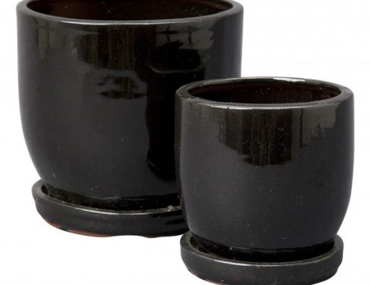 Black Ceramic Planters, Jayson Home