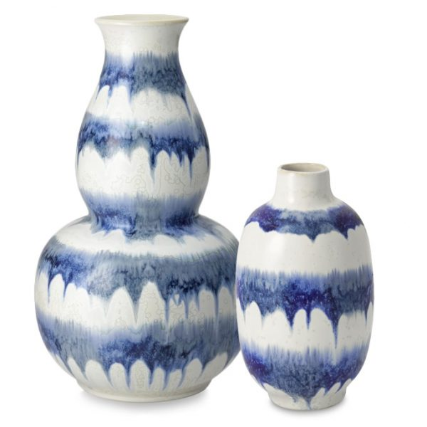 Blue Drip Vases, Williams-Sonoma