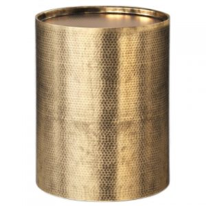 Brass Hammered Drum Cylinder Side Table, Project 62 Target