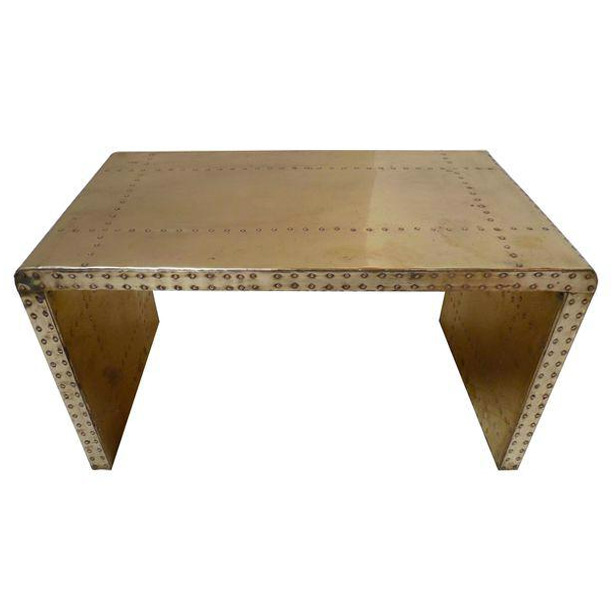 Vintage Brass Sarreid Table
