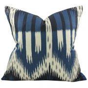 Bukhara Ikat Indigo Blue Pillow, Arianna Belle