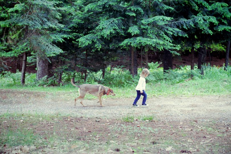 Eleanor in the Woods with Murray