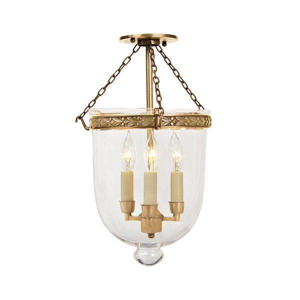 JVI Designs 3-Light Medium Bell Jar Foyer Pendant, Wayfair