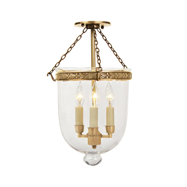 JVI Designs 3-Light Medium Bell Jar Foyer Pendant, Wayfair