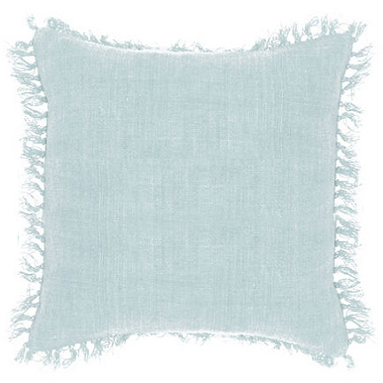 Laundered Linen Blue Pillow, Pine Cone Hill