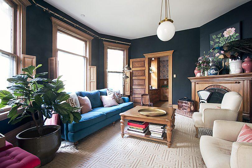 Victorian Home, Modern Living Room