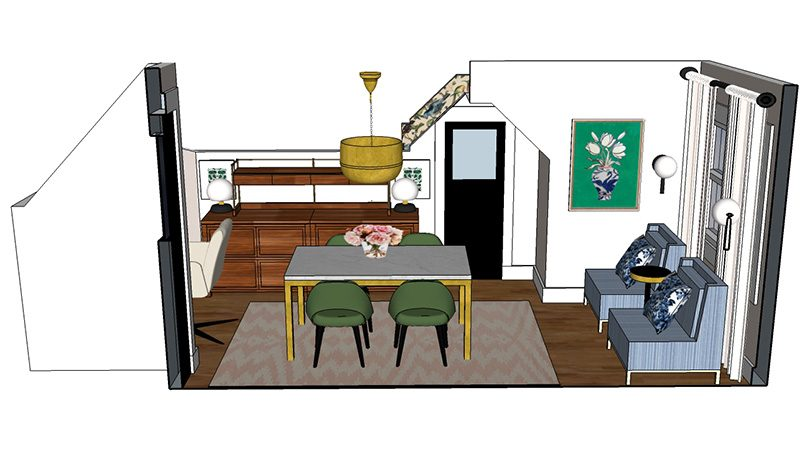 Office Layout (Made with SketchUp) | Making it Lovely