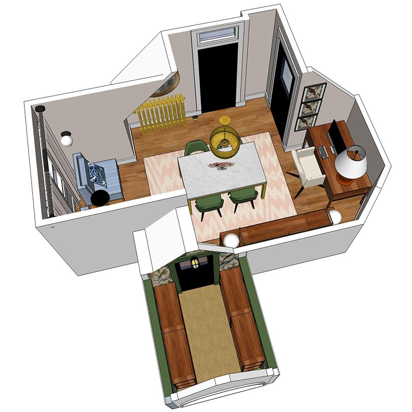 Office Closet Layout (Made with SketchUp)   Making it Lovely
