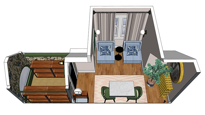 Office Layout with Section Cut (Made with SketchUp)   Making it Lovely