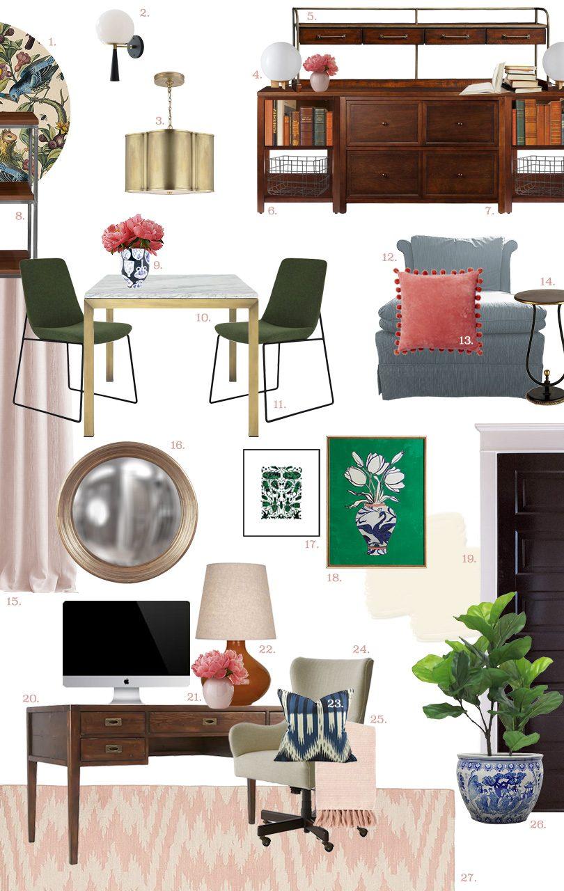 Office Design Plan   Making it Lovely, One Room Challenge