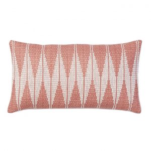 Pink Geometric Lumbar Pillow, West Elm