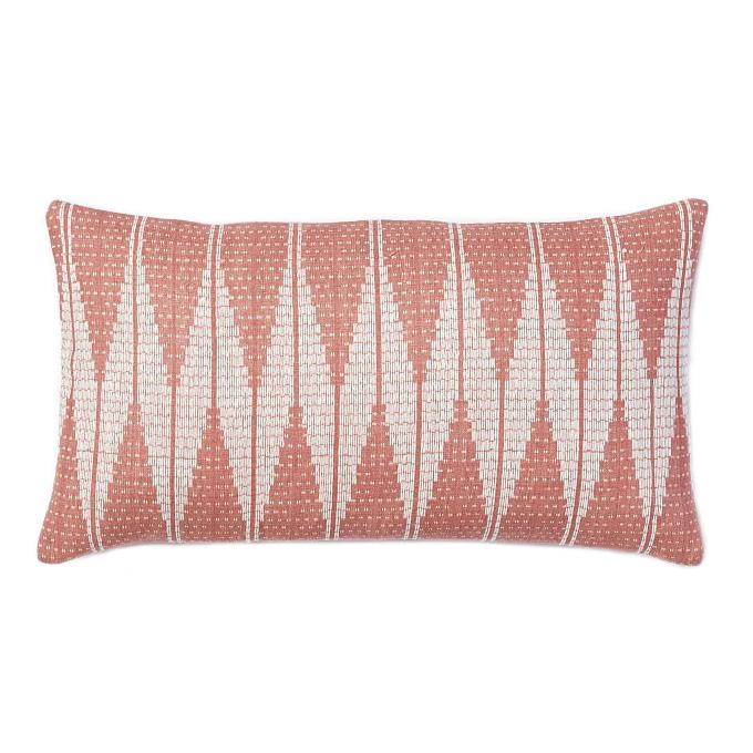 pink lumbar pillow making it lovely. Black Bedroom Furniture Sets. Home Design Ideas