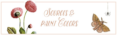 Sources & Paint Colors