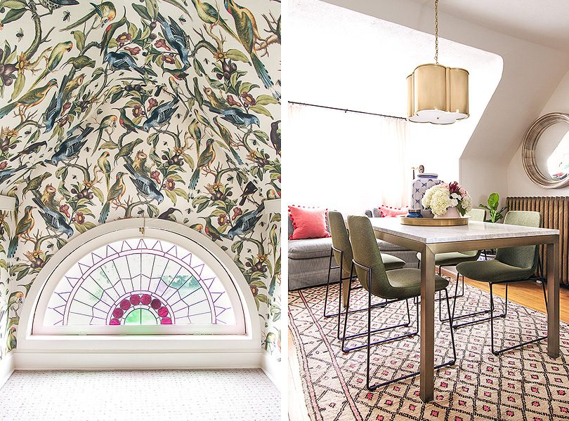 The Wallpapered Rainbow Room and Home Office   Making it Lovely, One Room Challenge Fall 2017
