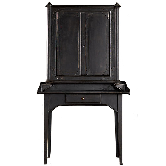 19th C. French Iron Secretary Desk, Restoration Hardware