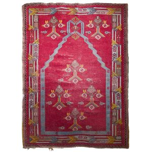 Antique Tibetan Prayer Meditation Rug
