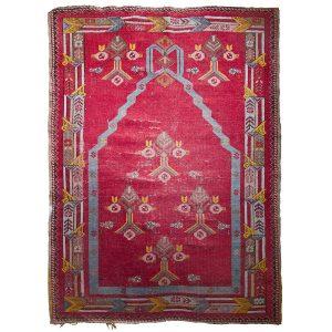 Antique Tibetan Prayer Meditation Rug