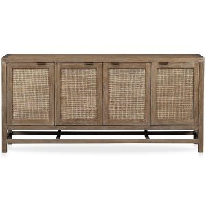 "Blake Grey Wash 68"" Media Console, Crate & Barrel"